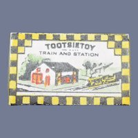 Miniature Doll Artist Tootsietoy Box W/ Miniature Train Toy Box Dollhouse Charlee 1988