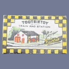 Miniature Doll Artist Tootsietoy Box W/ Miniature Train Toy Box Dollhouse Charlee 1988
