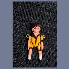 Vintage Artist Miniature Metal Jointed Doll Dollhouse