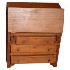 Vintage Doll Dollhouse Toncoss Sturbridge Miniature Desk Wood