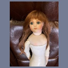 Gorgeous French Human Hair Doll Wig Auburn