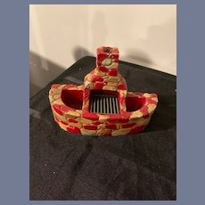 Old Miniature Doll Dollhouse Fireplace Chalkware Unusual