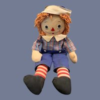 Vintage Raggedy Andy Cloth Doll Johnny Gruelle's Own