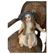Antique French Doll Bisque TeTe Jumeau Closed Mouth Sweet Girl