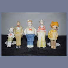 All Bisque Set of Family Character Figures