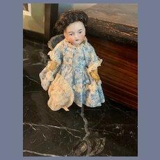 Antique Miniature Doll Bisque Head Dollhouse