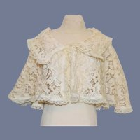 Old Lace Cape Jacket for Doll Gorgeous W/ Collar