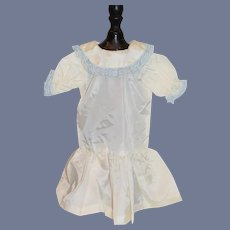 Simple and Sweet Doll Dress Drop Waist lace Trim