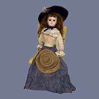Antique Doll French Fashion Closed Mouth Dressed Gorgeous Jumeau
