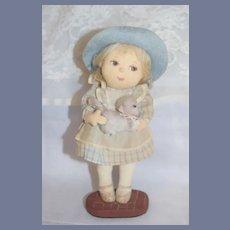 Wonderful Vintage Doll Artist Doll Juliet Lawson 77 Doll Holding Cat