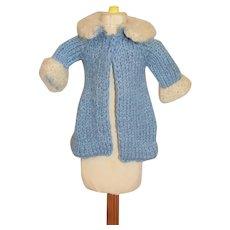 Vintage Knit Doll Dress Coat Handmade