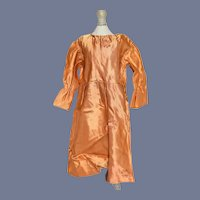 Vintage Silk Formal Doll Dress Rich Copper Orange