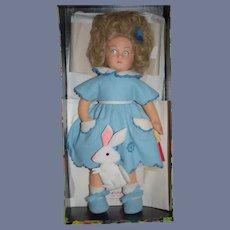 Wonderful Lenci Doll In Original Box W/ Papers Cloth Doll Felt Doll Bettina