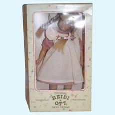 Sweet Vintage Heidi Ott Doll Swiss Design In Original Box