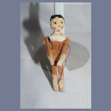 Old Wood Miniature Grodnertal Jointed Pegged