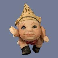 Sweet Vintage Humpty Dumpty Miniature Doll Dollhouse