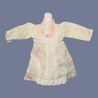 Sweet Vintage Mini Doll Dress in Pale Yellow