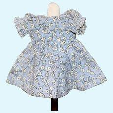 Vintage Mini Doll Dress Blue Floral Robert Raikes