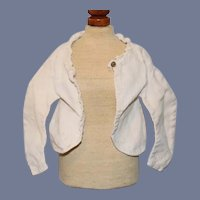 Vintage Old Doll Jacket with Curved Long Sleeves In Cream
