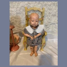 Antique Doll Schoenhut Wood Carved Jointed Doll Sweet