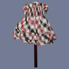 Vintage Plaid Mini Doll Dress Skirt