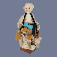 Vintage Wonderful Wood Peddler Doll