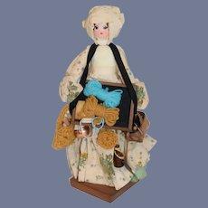 Vintage Wonderful Wood Peddler Doll