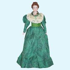 Gorgeous Vintage Lee Ed China Head Doll Wonderfully Dressed Artist Doll