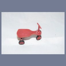 Adorable Vintage Miniature Doll Artist Wood Tricycle Scooter Mark Stockton Signed and Dated Dollhouse
