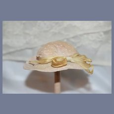 Sweet Old Doll Hat Bonnet Polka Dot with Bow Fancy