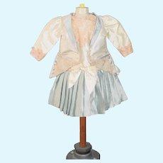 Wonderful Vintage Doll Dress and Jacket Set Taffeta and Lace Artist Sweet
