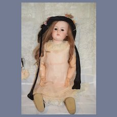 """Antique Large French Bisque Doll Leconte 33"""" Tall Gorgeous"""