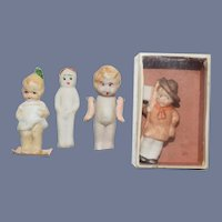 Antique Miniature Bisque Doll Lot Set Dollhouse Characters