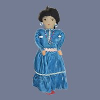 Vintage Indian Doll Cloth Doll