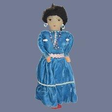 Vintage Indian Doll Cloth Doll
