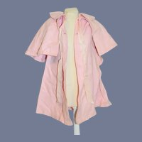 Wonderful Vintage Pink Cape Swing Coat For Doll