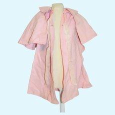 Wonderful Vintage Pink Cape Swing Coat For Doll