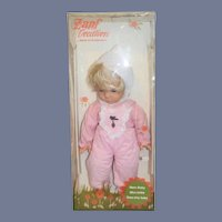 Vintage Zaph Creation Doll in Original Box Western Germany Mein Baby Mon Bebe