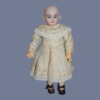 Wonderful Petite Size Bisque Head Doll W/ Fab Clothes & Undergarments