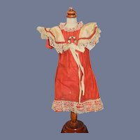 Antique Doll French  Dress Factory Sweet