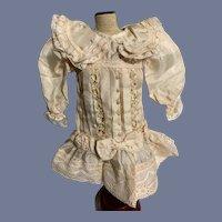 Wonderful Doll Dress Sweet Drop Waist Silk W/ Drop Waist and Bows