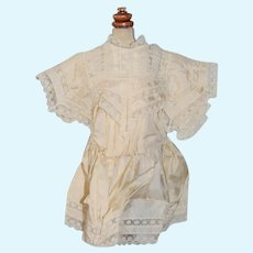 Wonderful Old Doll Dress Petite French Market Silk and Lace Gorgeous