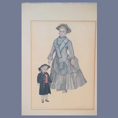 Old French Fashion Doll Print Signed Numbered Gorgeous Dolls