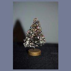 Vintage Doll Miniature Christmas Tree Dollhouse