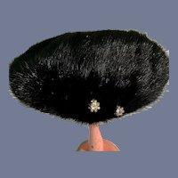 Miss Alice Julian Gold Black Fur Doll Bonnet Hat