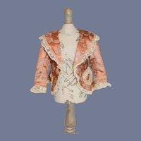 Vintage Gorgeous Doll Jacket French Market Bolero Jacket Lace Trim Pocket