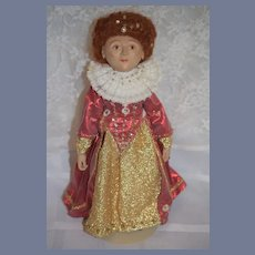 Queen Elizabeth Artist Doll Wonderful Character Doll
