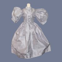 Wonderful Plaid Doll Dress Silk Petite French Doll