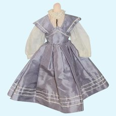 Sweet Two Piece Doll Dress and Top Silk Gorgeous French Market