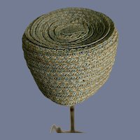 Vintage Doll Straw Type Bonnet Hat